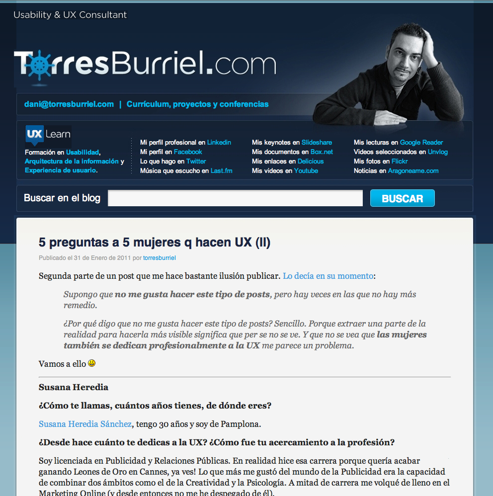 Entrevista 5 preguntas a 5 mujeres que hacen UX en el Torresburriel.com