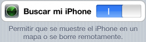 Activar find my iphone