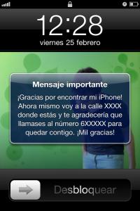 Mensaje iphone