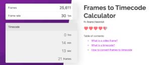 calculadora de frames Omnicalculator